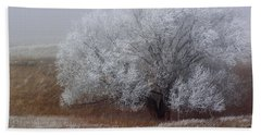 Frost And Fog Beach Towel