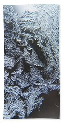Frost Branches Beach Towel