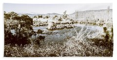 Frost Covered River Beach Towel