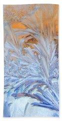 Frost Patterns On Window Beach Towel