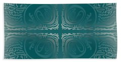 Beach Towel featuring the digital art Frost Squiggle Tile by Kevin McLaughlin