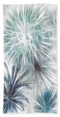 Beach Sheet featuring the digital art Frosted Abstract by Methune Hively