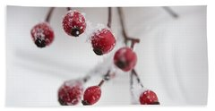 Frosted Berries Beach Towel