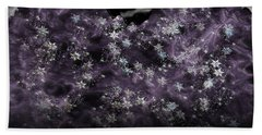 Frosted Purple Mountains Beach Towel