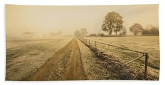 Frosted Road In Outback Australia Beach Towel