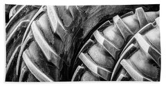 Beach Towel featuring the photograph Frosted Tires by Brad Allen Fine Art