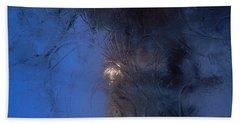 Frostwork - Engraved Night Beach Towel