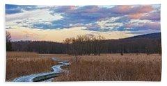 Frosty Blue Trail Beach Sheet by Angelo Marcialis