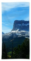 Frosty Chief Mountain Beach Towel