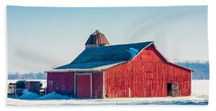 Frosty Farm Beach Towel