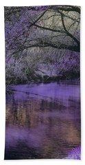 Frosty Lilac Wilderness Beach Sheet