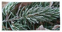 Frosty Pine Branch Beach Sheet