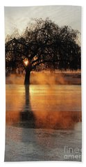Frosty Sunrise In Bushy Park London 2 Beach Towel