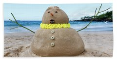 Frosty The Sandman Beach Towel