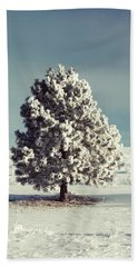 Frosty The Tree Beach Towel