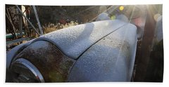 Frosty Tractor Beach Towel