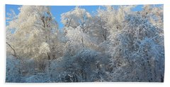 Frosty Trees Beach Sheet