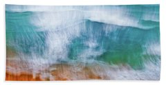 Beach Towel featuring the photograph Frothing Over by Az Jackson