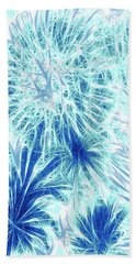 Beach Sheet featuring the digital art Frozen Blue Ice by Methune Hively
