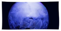 Frozen Bubble Art Blue Beach Towel