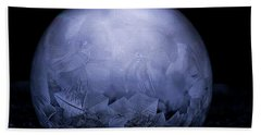 Frozen Bubble Art  Beach Towel