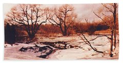 Frozen Creek Beach Towel