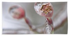 Frozen Dogwood Bud Beach Sheet