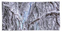 Frozen Falls Beach Towel