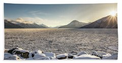 Frozen Fjord Sunrise Beach Sheet