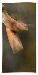 ...frozen Flight Hummingbird.... Beach Towel