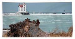 Frozen Harbor Beach Towel