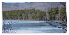 Frozen Lake Chocorua Beach Towel by Catherine Gagne
