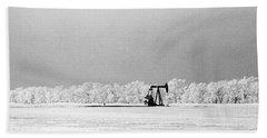 Frozen Oil Field Beach Sheet
