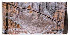 Frozen Remains Beach Sheet by Todd Breitling