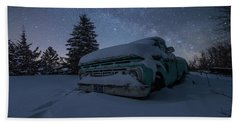 Beach Towel featuring the photograph Frozen Rust  by Aaron J Groen