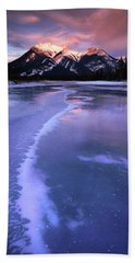 Frozen Sunrise Beach Sheet