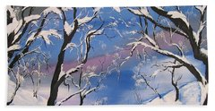 Frozen Tranquility  Beach Towel