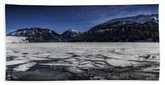 Beach Sheet featuring the photograph Frozen Wallowa Lake by Cat Connor