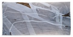 Frozen Water On Ground Beach Towel by Amelia Racca