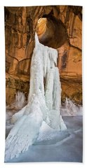 Frozen Waterfall Beach Towel