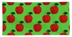 Fruit 02_apple_pattern Beach Sheet by Bobbi Freelance