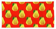 Fruit 03_pear_pattern Beach Sheet by Bobbi Freelance