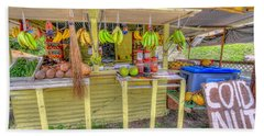 Fruit And Vegetable Stand  Beach Towel