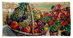 Fruit Basket Beach Towel by Alexandra Maria Ethlyn Cheshire