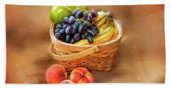 Beach Towel featuring the photograph Fruit Basket by Mary Timman