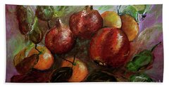Beach Towel featuring the painting Fruit Dance by Jasna Dragun