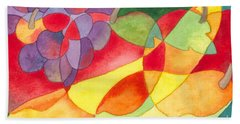 Beach Towel featuring the painting Fruit Montage by Kristen Fox