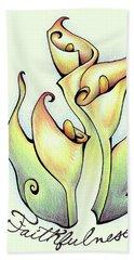 Fruit Of The Spirit Series 2 Faithfulness Beach Sheet