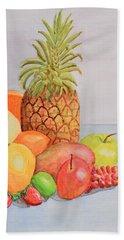 Fruit On Table Beach Towel
