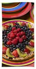 Fruit Tart Pie Beach Sheet by Garry Gay